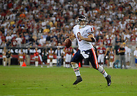 Oct. 16, 2006; Glendale, AZ, USA; Chicago Bears quarterback (8) Rex Grossman looks for a receiver against the Arizona Cardinals at University of Phoenix Stadium in Glendale, AZ. Mandatory Credit: Mark J. Rebilas
