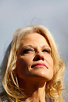 Senior Counselor Kellyanne Conway talks with reporters in the West Wing driveway of the White House, in Washington, D.C., January 9, 2019.<br /> CAP/MPI/RS<br /> ©RS/MPI/Capital Pictures
