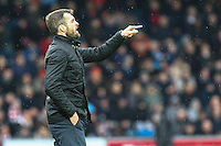 Nathan Jones (Manager) of Luton Town during the Sky Bet League 2 match between Wycombe Wanderers and Luton Town at Adams Park, High Wycombe, England on 6 February 2016. Photo by David Horn.