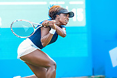 June 18th 2017, Edgbaston Priory Club; Tennis Tournament; Aegon Classic Birmingham; Sunday Qualifiers; Sachia Vickery plays a back hand against Katie Boulter