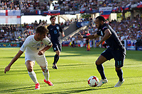 Martin Chrien of Slovakia and Nathan Redmond of England during Slovakia Under-21 vs England Under-21, UEFA European Under-21 Championship Football at The Kolporter Arena on 19th June 2017