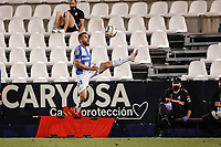 22nd June 2020; Estadio Municipal de Butarque, Madrid, Spain; La Liga Football, Club Deportivo Leganes versus Granada; Kevin Rodriguez (CD Leganes)  controls the high ball