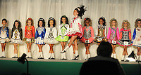 13-4-2014: Dancers do their jigs for the judge at the World Irish Dancing Championships in Killarney at the weekend.<br /> Picture by Don MacMonagle