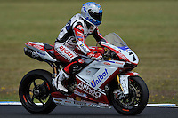 PHILLIP ISLAND, 27 FEBRUARY - Carlos Checa (ESP) riding the Ducati 1098R (7) of the Althea Racing Team cools down after winning race one of round one of the 2011 FIM Superbike World Championship at Phillip Island, Australia. (Photo Sydney Low / syd-low.com)