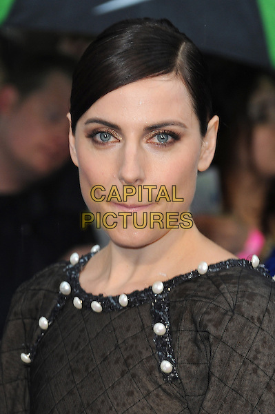 Antje Traue<br /> 'Man Of Steel' UK film premiere, Empire cinema, Leicester Square, London, England.<br /> 12th June 2013<br /> headshot portrait black white pearls<br /> CAP/BEL<br /> &copy;Tom Belcher/Capital Pictures