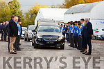 Guard of Honour in Memory of Sean Kelly former member of the Tralee Rugby Club and teacher at CBS Tralee.