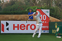 Emiliano Grillo (ARG) in action on the 10th during Round 2 of the Hero Indian Open at the DLF Golf and Country Club on Friday 9th March 2018.<br /> Picture:  Thos Caffrey / www.golffile.ie<br /> <br /> All photo usage must carry mandatory copyright credit (&copy; Golffile | Thos Caffrey)
