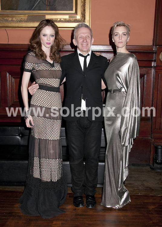 **ALL ROUND PICTURES FROM SOLARPIX.COM**                                             **SYNDICATION RIGHTS FOR UK, AUSTRALIA, DENMARK, PORTUGAL, S. AFRICA, SPAIN & DUBAI (U.A.E) & ASIA (EXCLUDING JAPAN) ONLY**                                                                                  Caption: The  Lycee Francais de New York Gala 2012 at Park Avenue Armory in New York City, NY, USA                                    This pic: JCoco Rocha, Jean Paul Gaultier, Hannelore Knuts                                       JOB REF:14578        PHZ /Mayer      DATE:17.03.2012                                                            **MUST CREDIT SOLARPIX.COM OR DOUBLE FEE WILL BE CHARGED**                                                                      **MUST AGREE FEE BEFORE ONLINE USAGE**                               **CALL US ON: +34 952 811 768 or LOW RATE FROM UK 0844 617 7637**