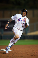 Salt River Rafters first baseman Dominic Smith (22) running the bases during an Arizona Fall League game against the Scottsdale Scorpions on October 13, 2015 at Salt River Fields at Talking Stick in Scottsdale, Arizona.  Salt River defeated Scottsdale 5-3.  (Mike Janes/Four Seam Images)