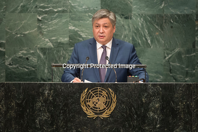 Kyrgyzstan<br /> H.E. Mr. Erlan Abdyldayev<br /> Minister for Foreign Affairs<br /> <br /> <br /> General Assembly Seventy-first session 20th plenary meeting<br /> <br /> General Debate