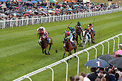 June 10th 2017, Chester Racecourse, Cheshire, England; Chester Races Horse racing; Alpine Dream in the red cap ridden by PJ McDonald comes through to win the JJ Whitley Stakes with Forever a Lady ridden by Dougie Costello coming in second