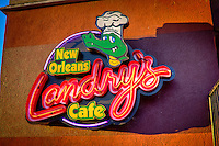 Landry's New Orleans Café on Garrison Avenue in historic downtown Fort Smith Arkansas.