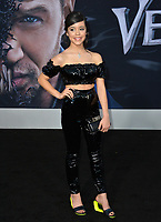 LOS ANGELES, CA. October 01, 2018: Jenna Ortega at the world premiere for &quot;Venom&quot; at the Regency Village Theatre.<br /> Picture: Paul Smith/Featureflash