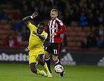 Hiram Boating of Bristol Rovers tussles with Matt Done of Sheffield Utd during the League One match at Bramall Lane Stadium, Sheffield. Picture date: September 27th, 2016. Pic Simon Bellis/Sportimage