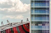 Milano, quartiere Portello. La sede di A.C. Milan e la Torre Isozaki al quartiere Citylife  --- Milan, Portello district. The headquarter of A.C. Milan football club and the Tower Isozaki at Citylife district