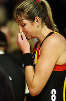 Magic's Irene Van Dyk after the loss in the ANZ Netball Championship match between the Waikato Bay of Plenty Magic and Adelaide Thunderbirds, Mystery Creek Events Centre, Hamilton, New Zealand on Sunday 19 July 2009. Photo: Dave Lintott / lintottphoto.co.nz
