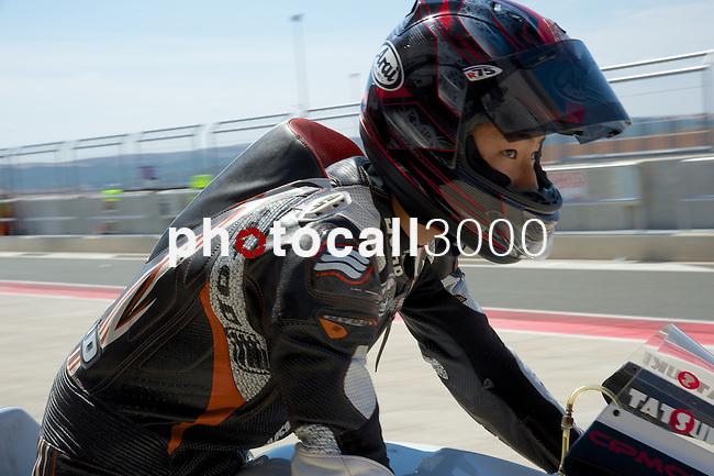 FIM CEV REPSOL in Navarra during the Spanish Championship 2014.<br /> Los Arcos, navarra, spain<br /> September 06, 2014. <br /> Moto3<br /> tatsuki suzuki<br /> PHOTOCALL3000/ RME