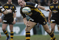 Wycombe, GREAT BRITAIN,Lawrence DALLAGLIO move the ball, during the Heineken Cup game Wasps vs Llanelli Scarlets, at Adams Park Stadium, Bucks, 13.01.2008 [Photo, Peter Spurrier/Intersport-images]