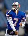 3 December 2006: Buffalo Bills quarterback J.P. Losman warms up prior to a game against the San Diego Chargers at Ralph Wilson Stadium in Orchard Park, New York. The Charges defeated the Bills 24-21. Mandatory Photo Credit: Ed Wolfstein Photo<br />