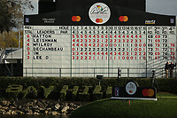 The score board from the 18th during the final round of the Arnold Palmer Invitational presented by Mastercard, Bay Hill, Orlando, Florida, USA. 08/03/2020.<br /> Picture: Golffile | Scott Halleran<br /> <br /> <br /> All photo usage must carry mandatory copyright credit (© Golffile | Scott Halleran)