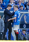 12.05.2019 Rangers v Celtic: Steven Gerrard and Scott Arfield