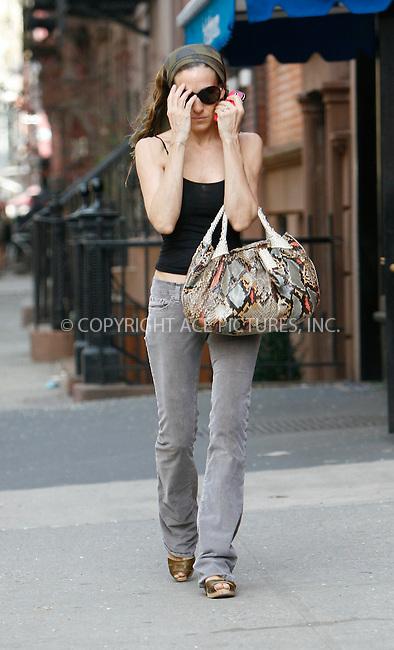 WWW.ACEPIXS.COM . . . . .  ....April 7 2010, New York City....Actress Sarah Jessica Parker seen walking in her West Village neighborhood on April 7 2010 in New York City....Please byline: NANCY RIVERA- ACEPIXS.COM.... *** ***..Ace Pictures, Inc:  ..Tel: 646 769 0430..e-mail: info@acepixs.com..web: http://www.acepixs.com