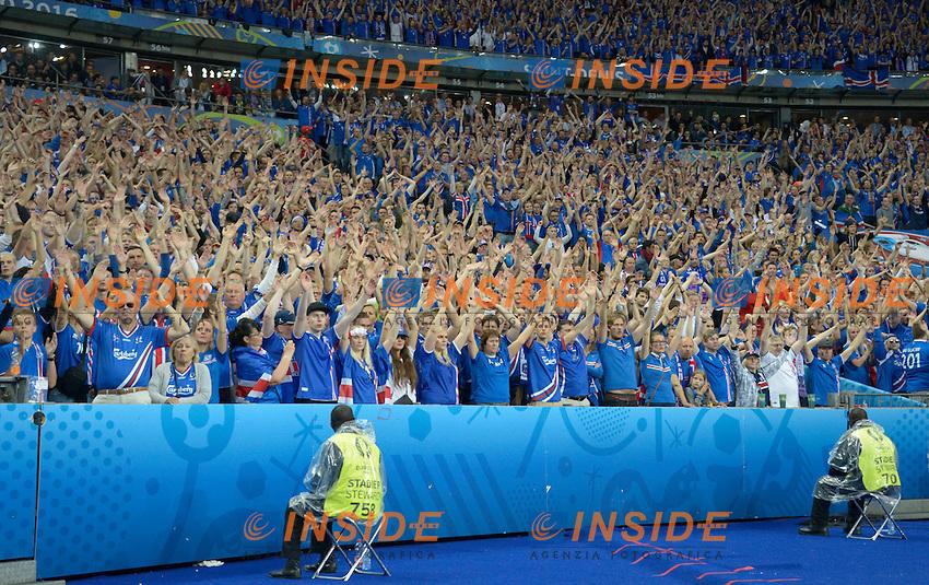 Tifosi Islanda Supporters Iceland <br /> Paris 03-07-2016 Stade de France Football Euro2016 France - Iceland / Francia - Islanda Quarter finals <br /> Foto Federico Pestellini / Panoramic / Insidefoto