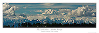 12x36 inch poster of Mt. McKinley (Denali) rising above the Alaska Range.