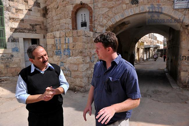 Kroc Institute master's student Eric Eggleston in Hebron, West Bank...Photo by Matt Cashore/University of Notre Dame