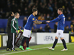 Muhamed Besic of Everton comes on for James McCarthy of Everton - UEFA Europa League Round of 32 Second Leg - Everton vs Young Boys - Goodison Park Stadium - Liverpool - England - 26th February 2015 - Picture Simon Bellis/Sportimage