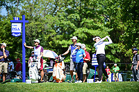 Mi Jung Hur (KOR) watches her tee shot on 18 during Saturday's round 3 of the 2017 KPMG Women's PGA Championship, at Olympia Fields Country Club, Olympia Fields, Illinois. 7/1/2017.<br /> Picture: Golffile | Ken Murray<br /> <br /> <br /> All photo usage must carry mandatory copyright credit (&copy; Golffile | Ken Murray)