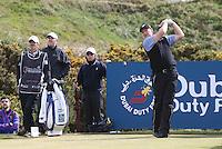 27 May 2015; Ernie Ells tees up at the 11th<br /> <br /> Dubai Duty Free Irish Open Golf Championship 2015, Pro-Am. Royal County Down Golf Club, Co. Down. Picture credit: John Dickson / DICKSONDIGITAL