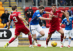 St Johnstone v Aberdeen&hellip;15.09.18&hellip;   McDiarmid Park     SPFL<br />Blair Alston gets between Graeme Shinnie and Max Lowe<br />Picture by Graeme Hart. <br />Copyright Perthshire Picture Agency<br />Tel: 01738 623350  Mobile: 07990 594431