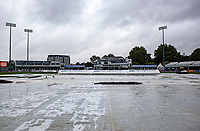 General view of the ground and the raincovers prior to Essex Eagles vs Middlesex, Vitality Blast T20 Cricket at The Cloudfm County Ground on 14th August 2019