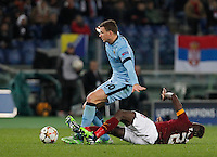 Manchester City's Edin Dzeko  during the Champions League Group E soccer match between As Roma and Manchester City  at the Olympic Stadium in Rome December 10 , 2014.