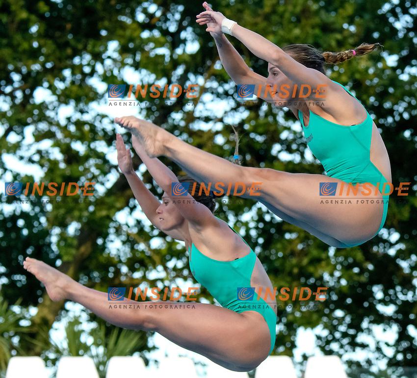 Francesca Dallape', Tania Cagnotto <br /> 3m Sincro Trampolino <br /> Roma 20-06-2016 Stadio del Nuoto Foro Italico Tuffi Campionati Italiani <br /> Foto Andrea Staccioli Insidefoto