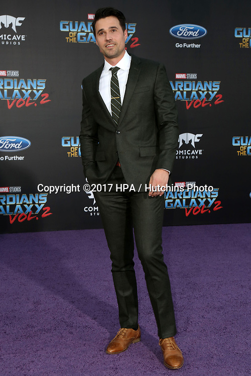 """LOS ANGELES - APR 19:  Brett Dalton at the """"Guardians of the Galaxy Vol. 2"""" Los Angeles Premiere at the Dolby Theater on April 19, 2017 in Los Angeles, CA"""