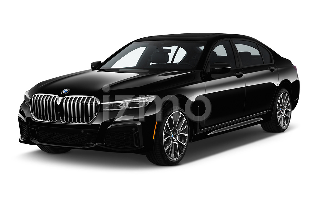 2020 BMW 7 Series M Sport 4 Door Sedan angular front stock photos of front three quarter view