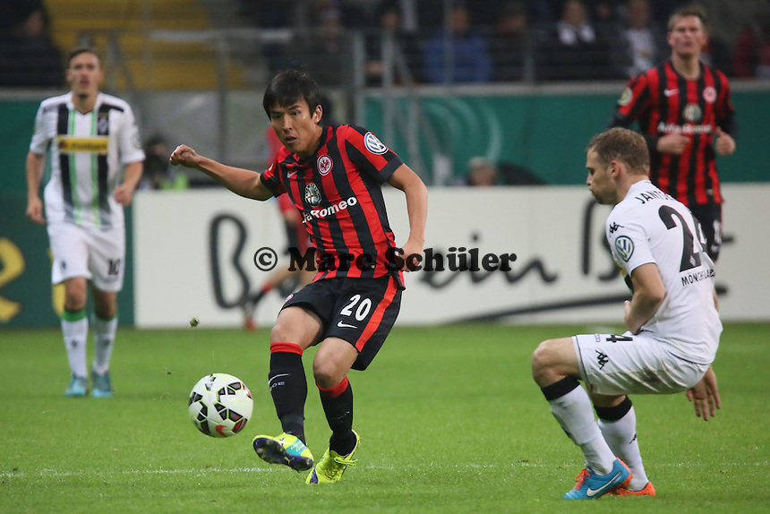 Makoto Hasebe (Eintracht) - Eintracht Frankfurt vs. Borussia Mönchengladbach, DFB-Pokal 2. Runde, Commerzbank Arena