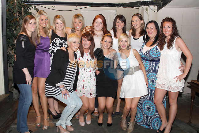 Andrea Kelly (front in black dress) celebrating her birthday with friends in the Black Bull...Picture Jenny Matthews/Newsfile.ie