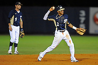2 March 2012:  FIU shortstop Julius Gaines (2) throws to first as the FIU Golden Panthers defeated the Brown University Bears, 6-5, at University Park Stadium in Miami, Florida.
