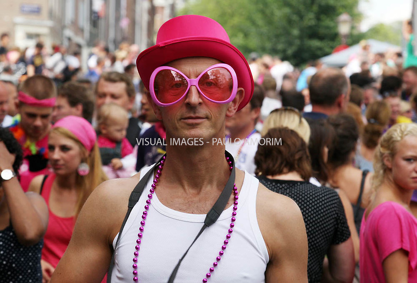 NETHERLANDS, Amsterdam : 2011-08-07 -Amsterdam turned pink on saturday when the annual Canal Parade, the conclusion of the Gay Pride week, passed through the canals od Amsterdam on 7 August, 2011.