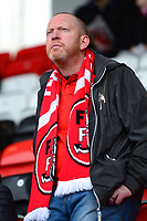 A Fleetwood Town fan looks on<br /> <br /> Photographer Richard Martin-Roberts/CameraSport<br /> <br /> The EFL Sky Bet League One - Fleetwood Town v Plymouth Argyle - Saturday 10th March 2018 - Highbury Stadium - Fleetwood<br /> <br /> World Copyright &not;&copy; 2018 CameraSport. All rights reserved. 43 Linden Ave. Countesthorpe. Leicester. England. LE8 5PG - Tel: +44 (0) 116 277 4147 - admin@camerasport.com - www.camerasport.com
