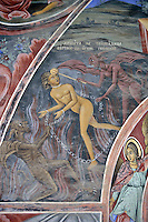 BG41215.JPG BULGARIA, RILA MONASTERY, CHURCH OF NATIVITY, frescoes