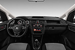 Stock photo of straight dashboard view of 2016 Volkswagen Caddy Maxi Van - 5 Door Car Van Dashboard