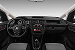 Stock photo of straight dashboard view of 2016 Volkswagen Caddy Maxi Van - 5 Door Car Van Dashboard