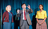 Hope <br /> by Jack Thorne <br /> at The Royal Court <br /> Jerwood Theatre Downstairs , London, Great Britain <br /> press photocall<br /> 1st December 2014 <br /> directed by John Tiffany <br /> designed by Tom Scutt <br /> <br /> <br /> STELLA GONET<br /> Hilary<br /> <br /> Paul Higgins as Mark <br /> <br /> <br /> SHARON DUNCAN-BREWSTER<br /> Julie<br /> <br /> <br /> <br /> <br /> Photograph by Elliott Franks <br /> Image licensed to Elliott Franks Photography Services
