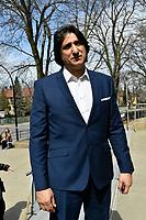 Tony Conte<br /> attend Jeanine Sutto funerals, April 10, 2017.<br /> <br /> PHOTO  :  Agence Quebec Presse