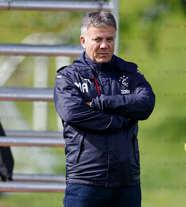 Rangers new Director of Football Mark Allen watches training this morning