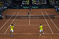 BOGOTA-COLOMBIA, 07-03-2020: Sebastian Cabal y Robert Farah de Colombia, durante partido de dobles de los enfrentamientos para Las clasificatorias Copa Davis by Rakuten 2020 entre Colombia y Argentina en el Palacio de los Deportes en la ciudad de Bogota. / Sebastian Cabal and Robert Farah of Colombia, during matches of the clashes for the Davis Cup by Rakuten 2020 qualifiers between Colombia and Argentina at the Palacio de los Deportes in Bogota city. / Photo: VizzorImage / Luis Ramirez / Staff.